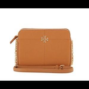 Tory Burch Tan Leather Ivy Crossbody Bag